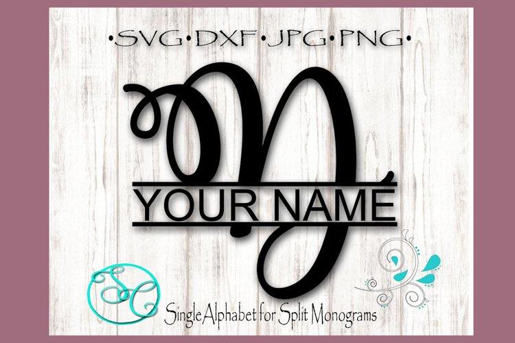 Split Monogram Letter D Single Letter File example image 1