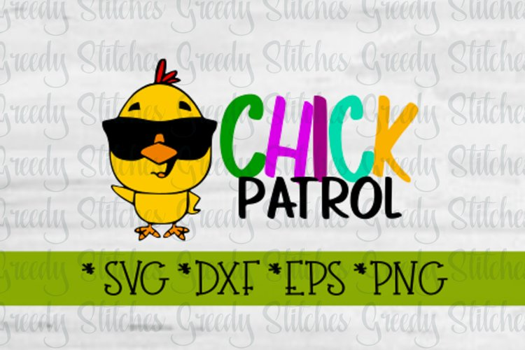 Easter, Chick Patrol SVG, DXF, EPS, PNG. example image 1