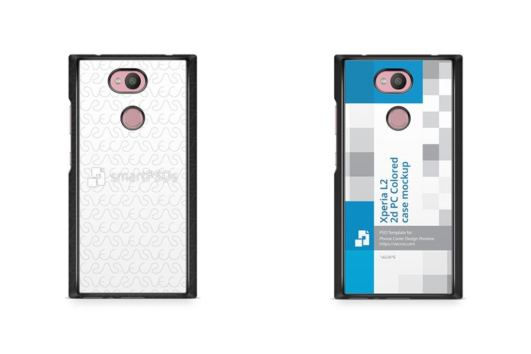 Sony Xperia L2 2d Colored Case Design Mockup 2018 example image 1