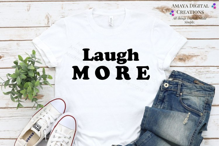 Laugh More BundleS VG, Instant Download example image 1