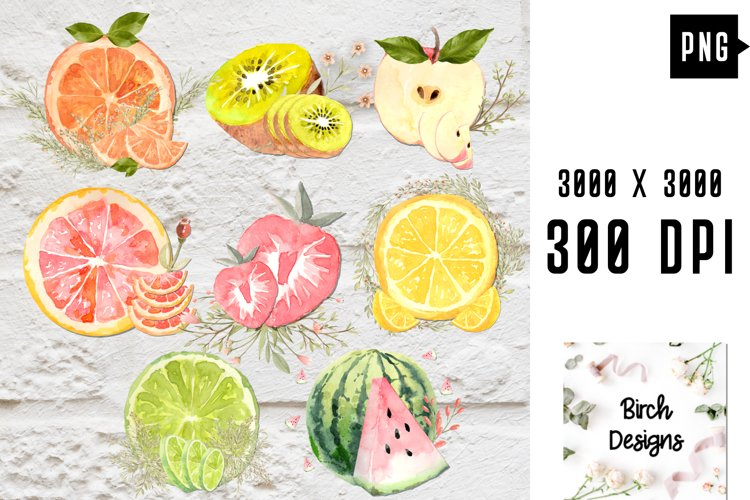 Colorful Fruit Organic Fresh Natural Garden Food PNG Files example image 1