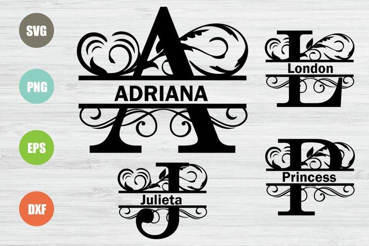 Split Letters A-Z Svg, Split Alphabet, Monogram Svg