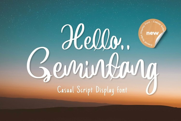 Web Font Gemintang example image 1