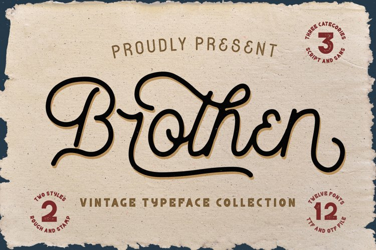 Brothen - Vintage Typeface Font example image 1