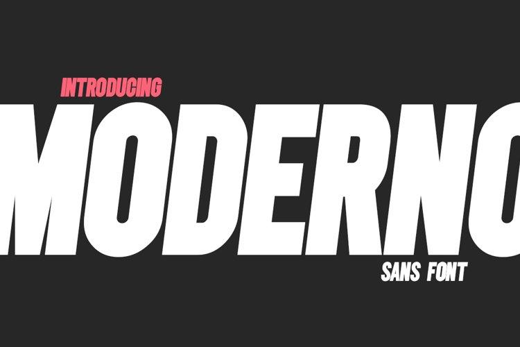Moderno Sans Font example image 1