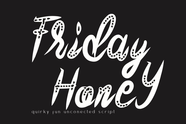 Friday Honey Quirky Font example image 1