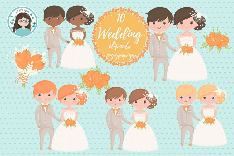 Wedding characters clipart example image 1