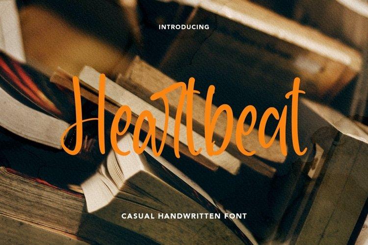 Web Font Heartbeat - Casual Handwritten Font example image 1
