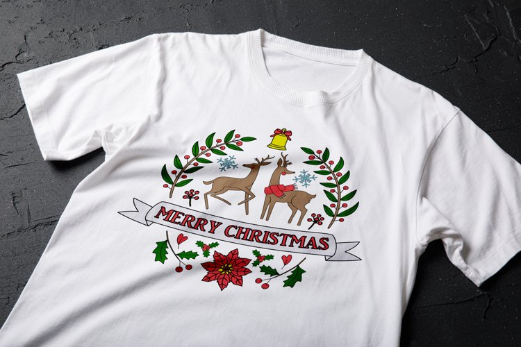 Merry Christmas Deer Svg| Christmas SVG File example image 1