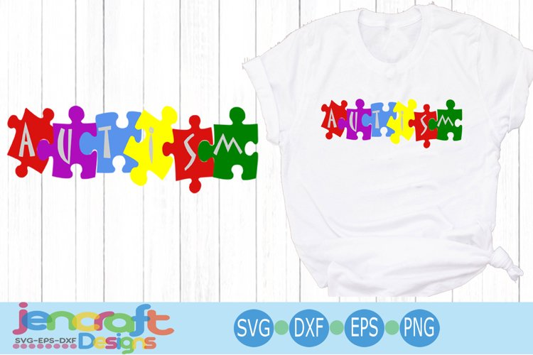 Autism Awareness Puzzle SVG example image 1
