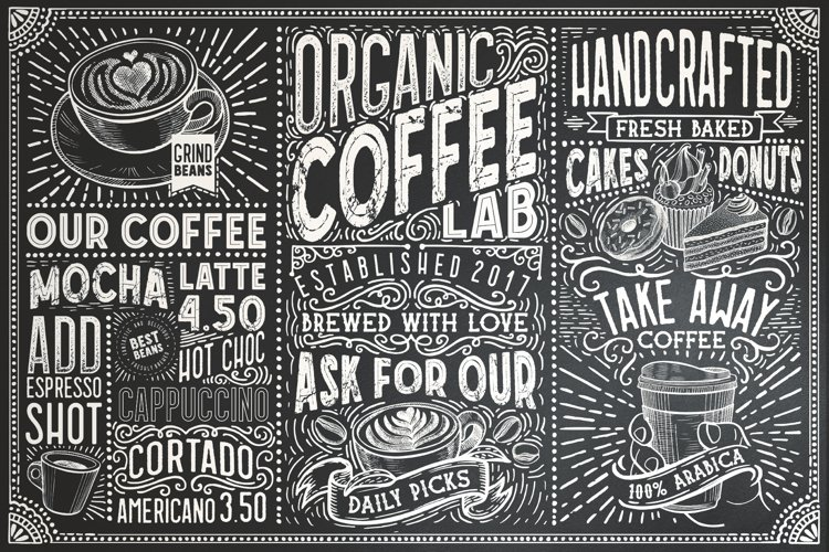 15 Fonts Coffee Lab Collection example image 1