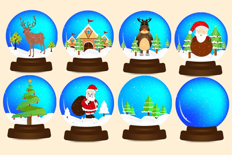 Christmas Snow Globes PNG Elements