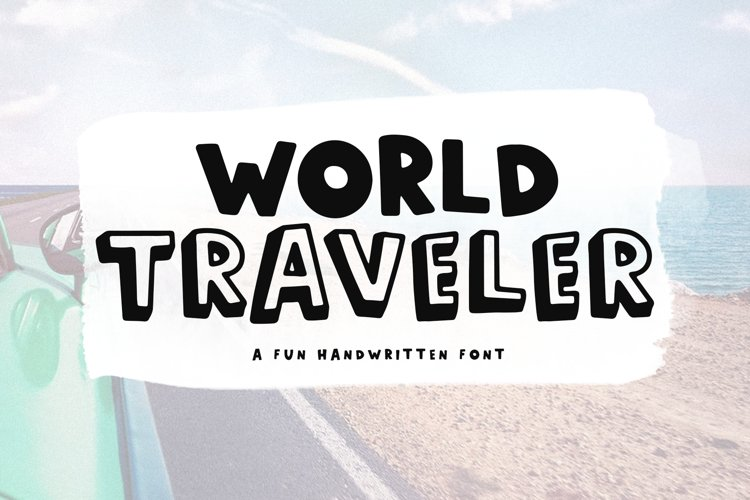 World Traveler - A Quirky Handwritten Font example image 1