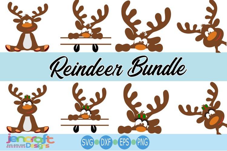 Reindeer SVG Bundle- Christmas Monogram SVG cut file