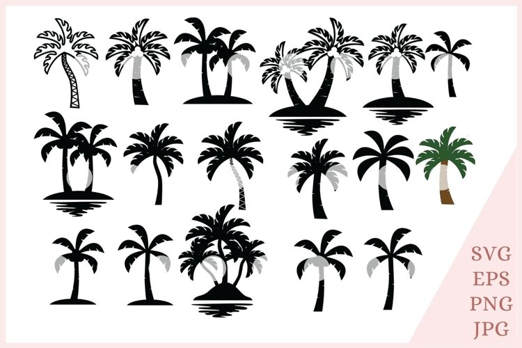 Palm Tree svg, Tropical svg, summer svg example image 1