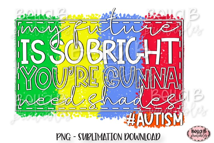 Autism Awareness Sublimation Design example image 1