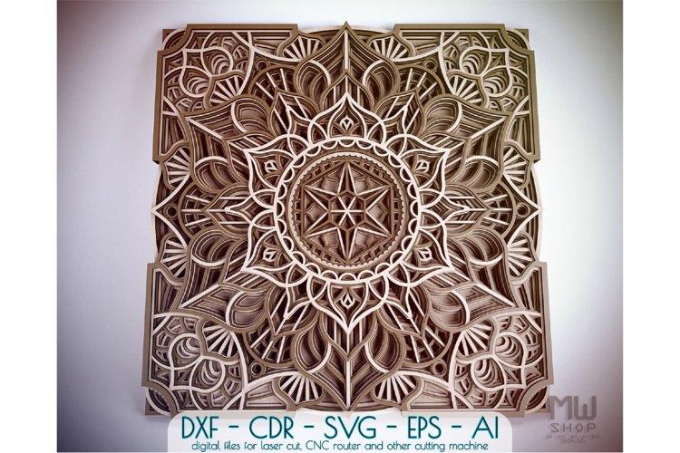 Download M54 Laser Cut Mandala Dxf Multilayer Mandala Template 586756 Laser Engraving Design Bundles