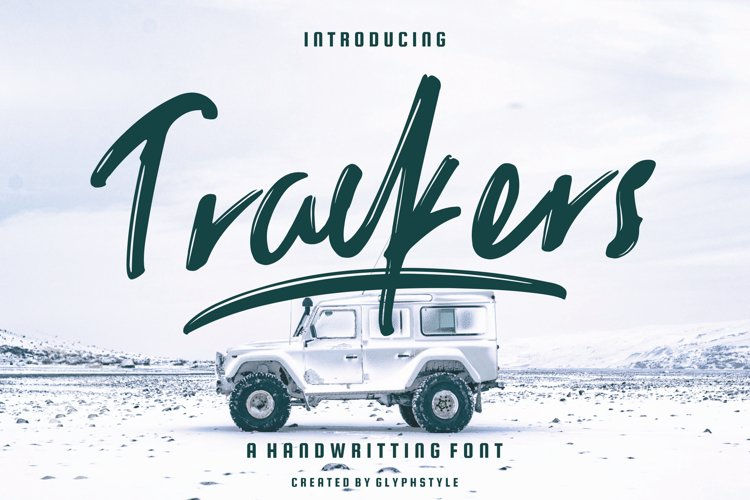Trackers Handwritten Font example image 1