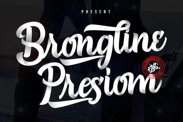 Brongline Presiom Script Font example image 1
