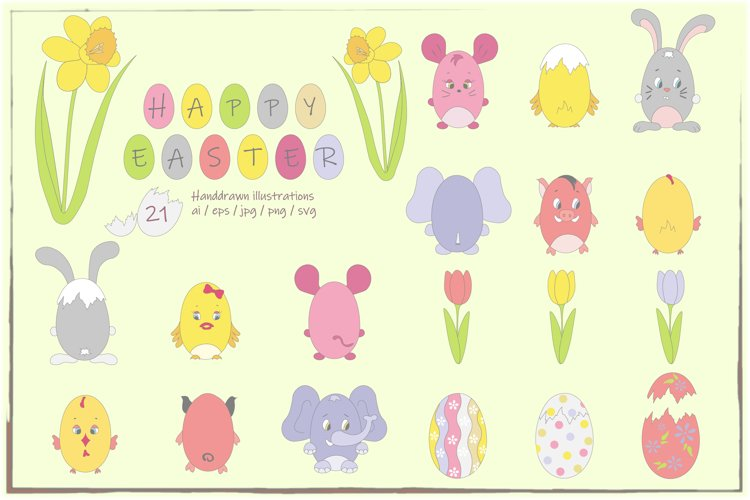 Happy Easter Clipart - DB005 example image 1