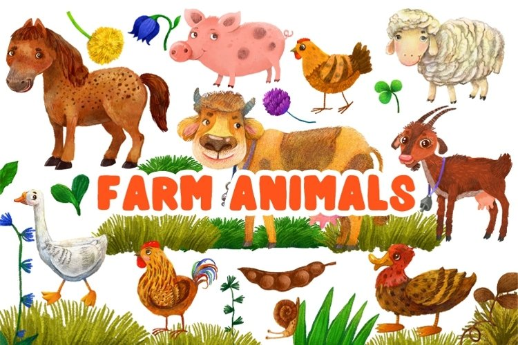 Farm animals/ PNG example image 1