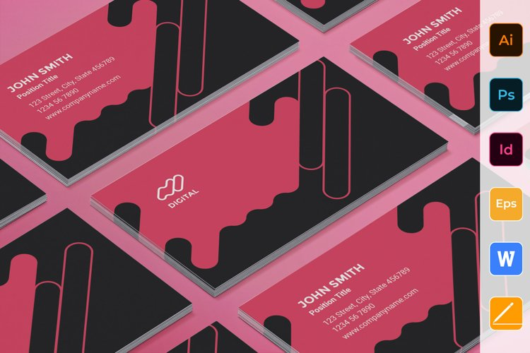 Digital Advertising Agency Business Card example image 1