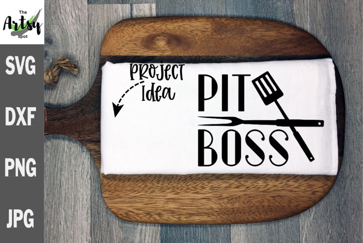 Pit Boss, BBQ apron, Mans BBQ gift svg, Fathers day svg
