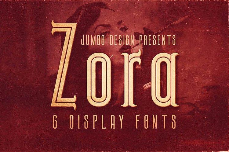 Zora - Vintage Display Font example image 1