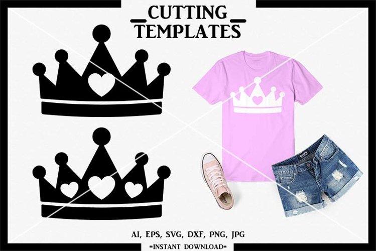 Crown SVG, Tiara SVG, Princess SVG, Silhouette, Cricut,Cameo example image 1