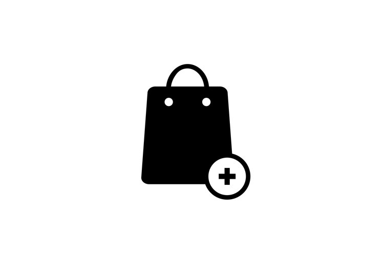 Shopping bag icon. Shopping online. Add to card symbol.