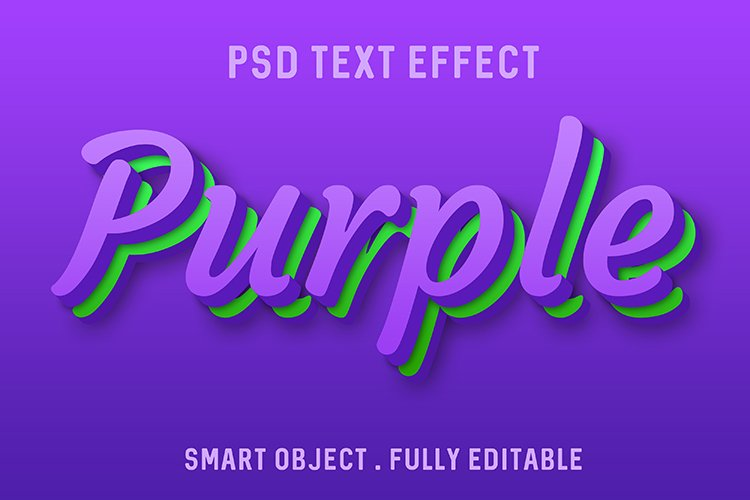 Purple green text effect