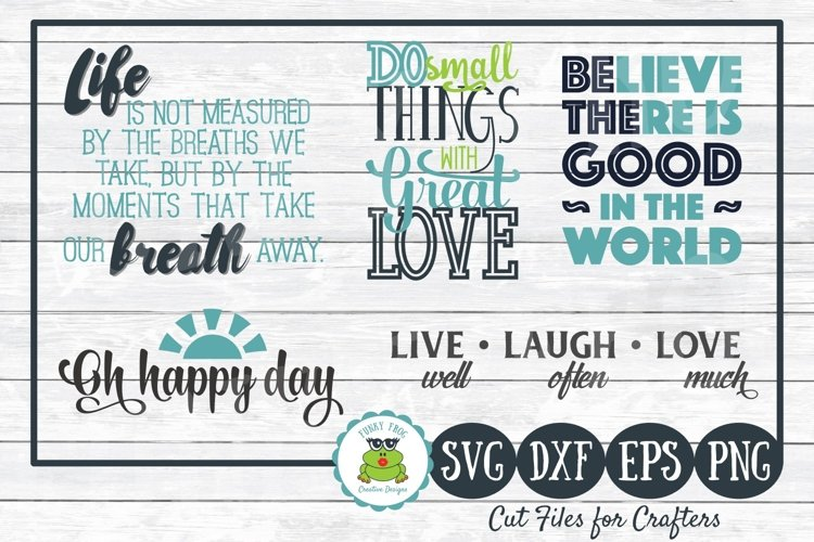 Inspirational Quotes Design Bundle SVG Cut Files for Crafter example image 1
