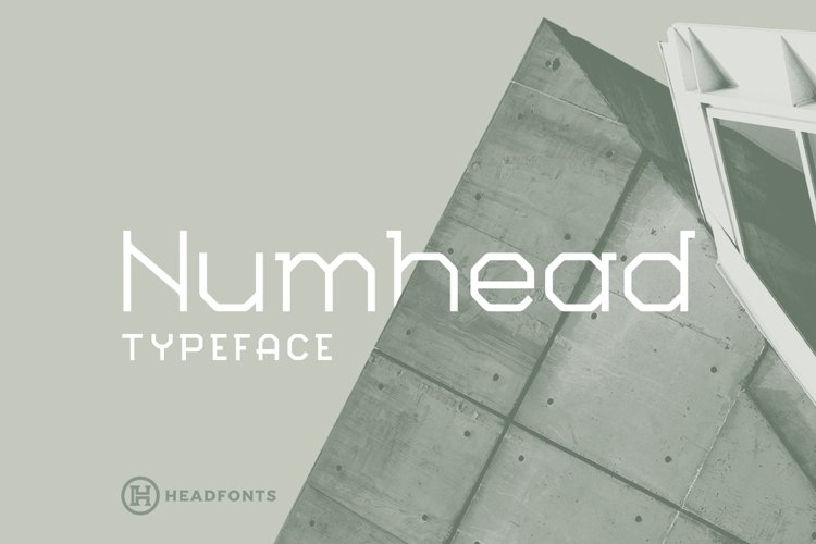 Numhead Typeface | Font example image 1