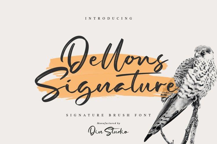 Dellons Signature-Elegant Brush Font example image 1