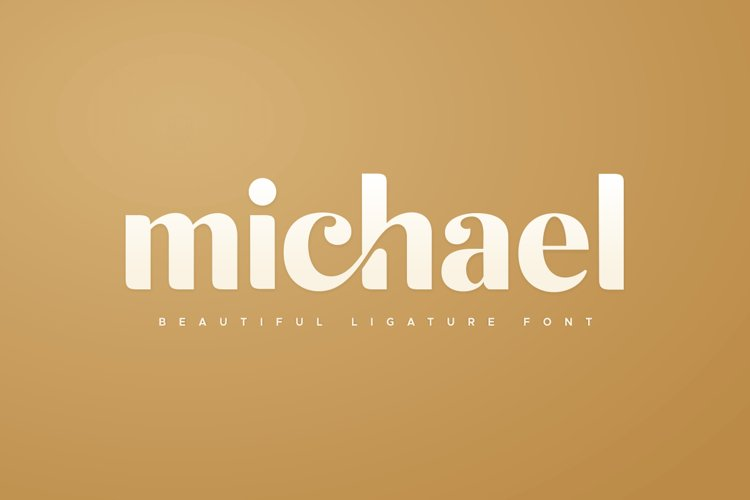 michael beautiful ligature font example image 1