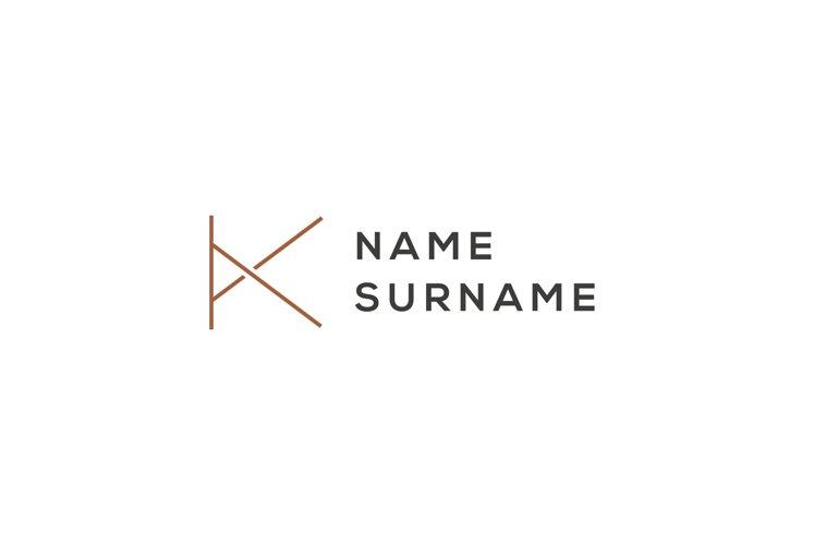 K Name Surname logo example image 1
