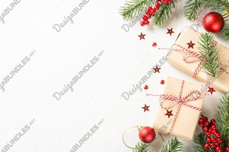 Christmas background at white example image 1