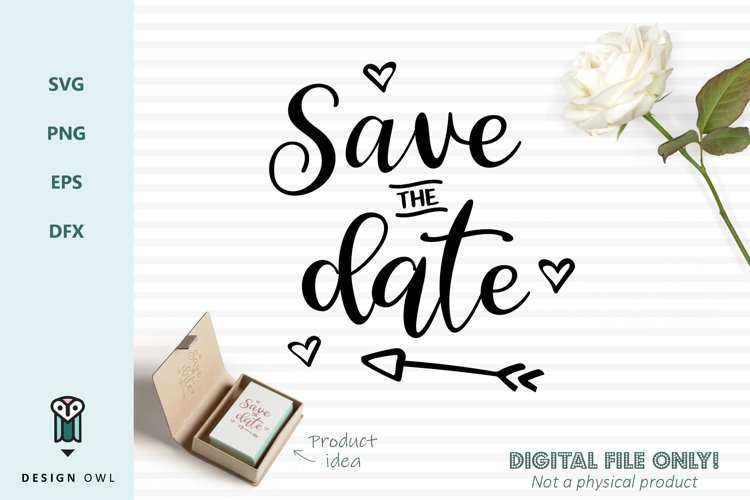 Save the date - SVG file example image 1