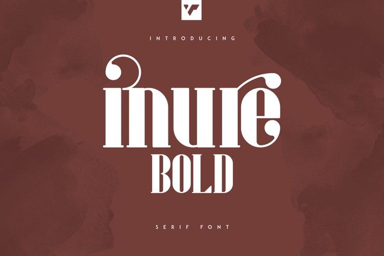 Inure - Serif Bold example image 1