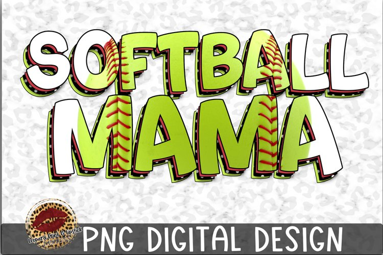 Sublimation Softball Mama example image 1