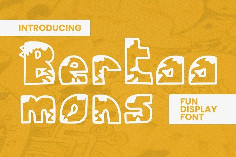 Web Font Bertaa Mons Font example image 1