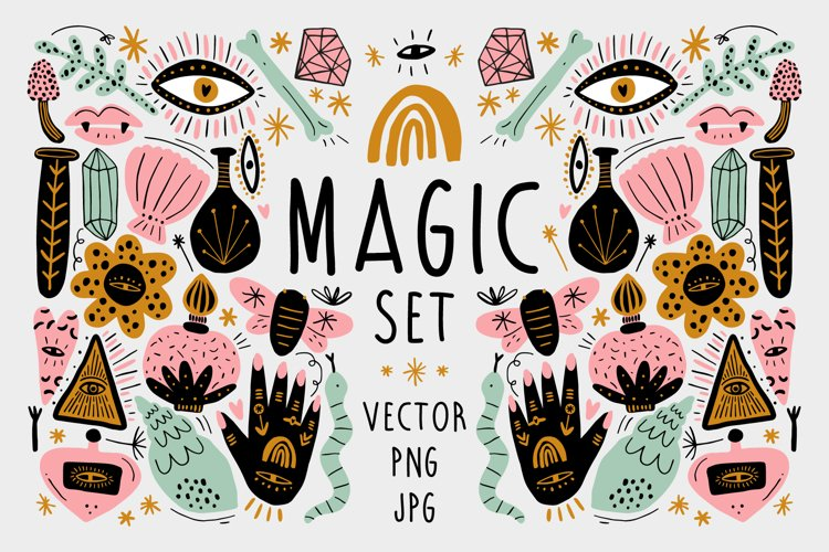 Vector Magic Witchcraft Elements Set example image 1