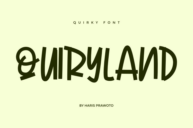 QUIRKYLAND - Quirky Font example image 1