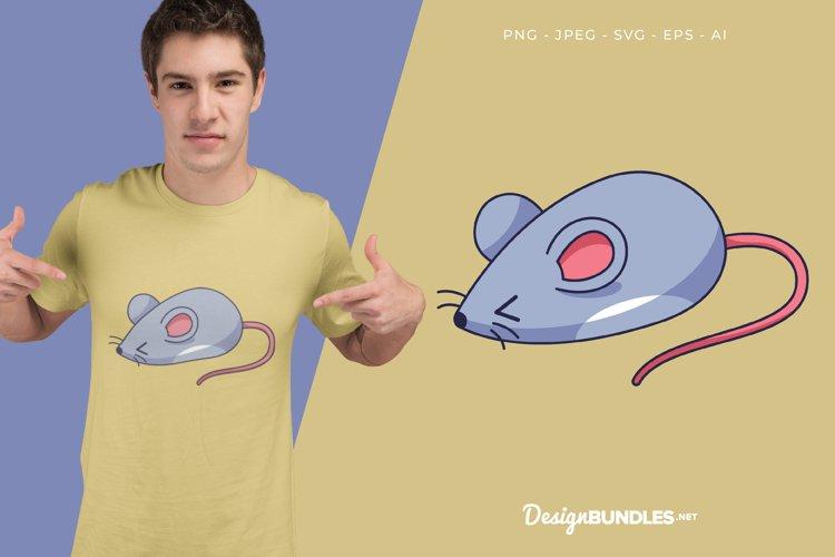 Shy Mouse Vector Illustration For T-Shirt Design