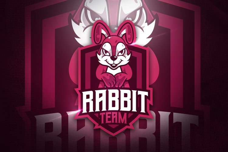Rabbit Team V.2 - Mascot & Esport Logo example image 1