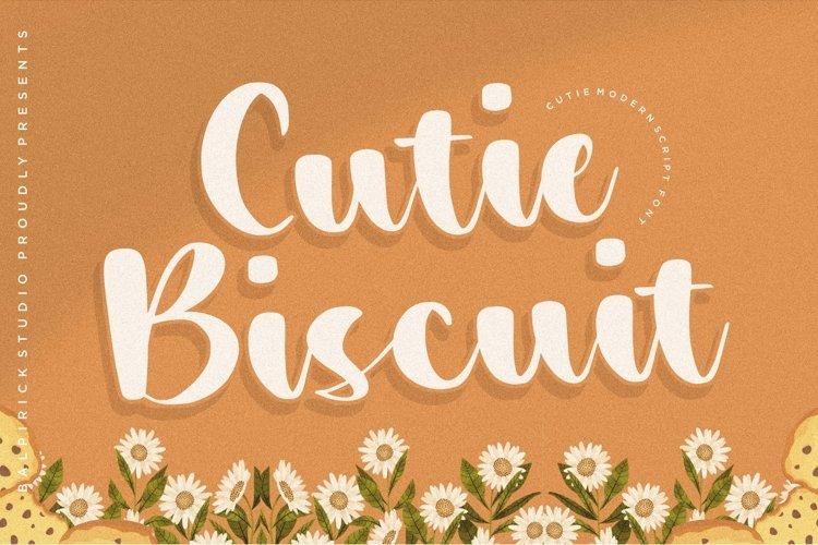 Cutie Biscuit Cutie Modern Script Font example image 1