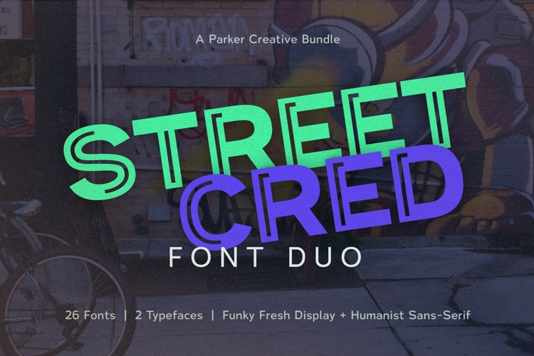 Urban Font | Inline Font Duo | Street Cred