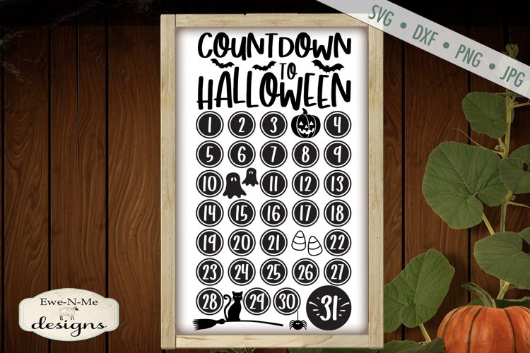 Countdown To Halloween | Jack o Lantern | Black Cat | SVG example image 1