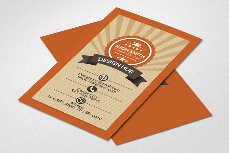 Retro Vintage Business Card  example image 1