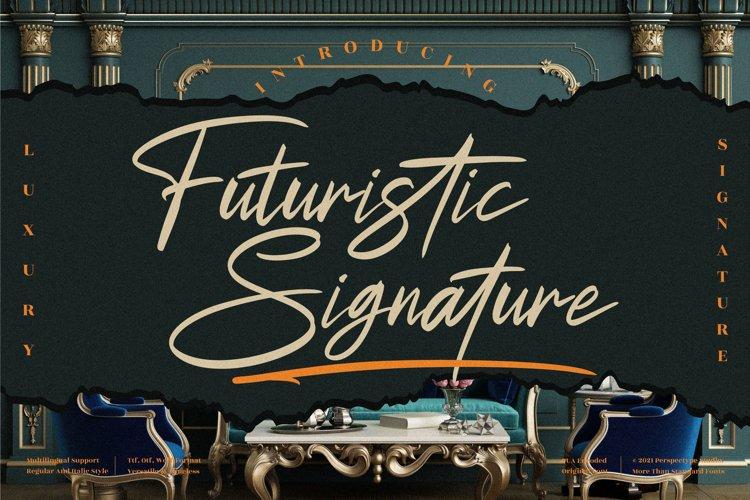 Futuristic Signature - Signature Script Font example image 1